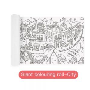 Rollo gigante de 10 metros para pintar sobre la ciudad