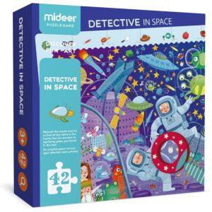 Puzzle interactivo detectives en el espacio