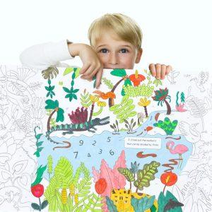 Rollo gigante de 10metros para pintar sobre la jungla