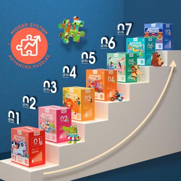 puzzle nivel 5, 3 en 1