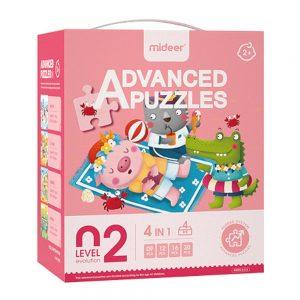 puzzle nivel 2, 4 en 1