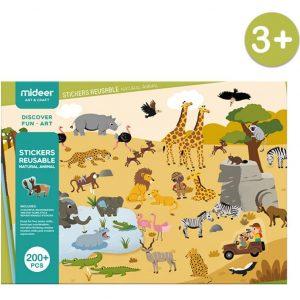 Stickers reutilizables de animales