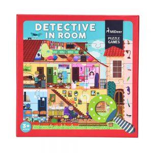 Puzzle interactivo detectives en la habitacion