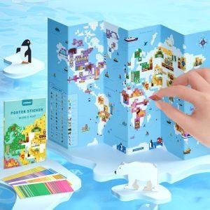 Stickers de mapa mundial